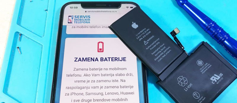zamena baterije iPhone x telefona