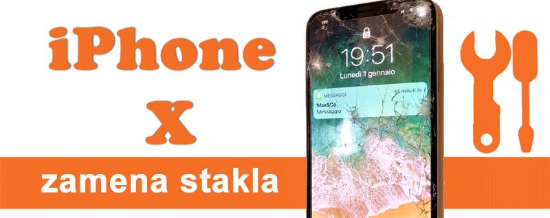 zamena stakla iphone x