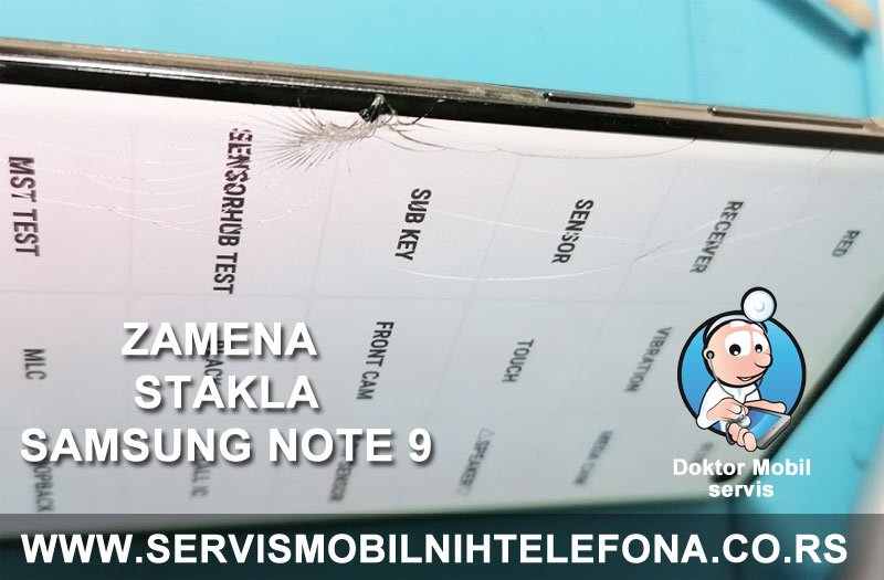 Slomljeno staklo ekrana Samsung telefona